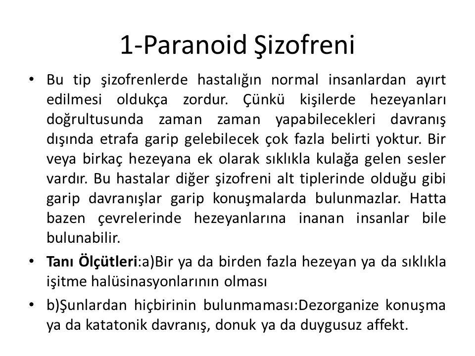 2-Dezorganize (Dağılmış Tip)Şizofreni Bu hastalar da dağılmış konuşma ve dağılmış davranışlar görülebilir.