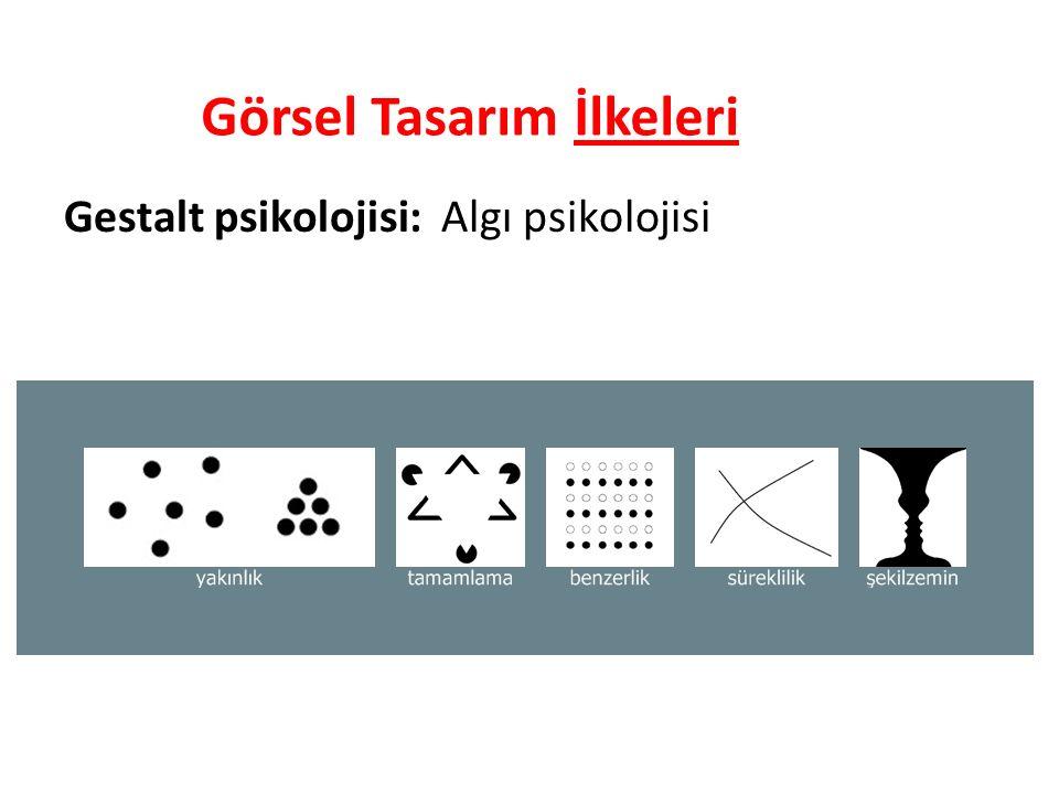 Gestalt psikolojisi: Algı psikolojisi Görsel Tasarım İlkeleri