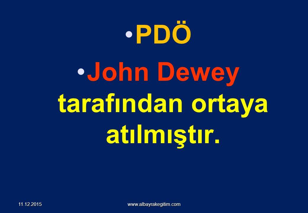 PDÖ John Dewey tarafından ortaya atılmıştır. www.albayrakegitim.com11.12.2015