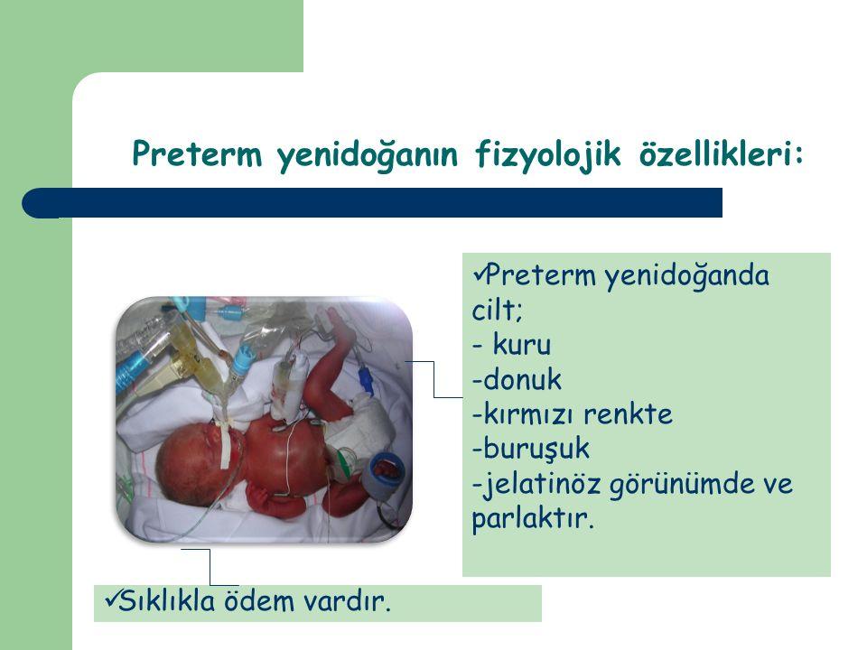 Preterm bebeğin beslenmesi Preterm Yenidoğanda Bakım İlkeleri
