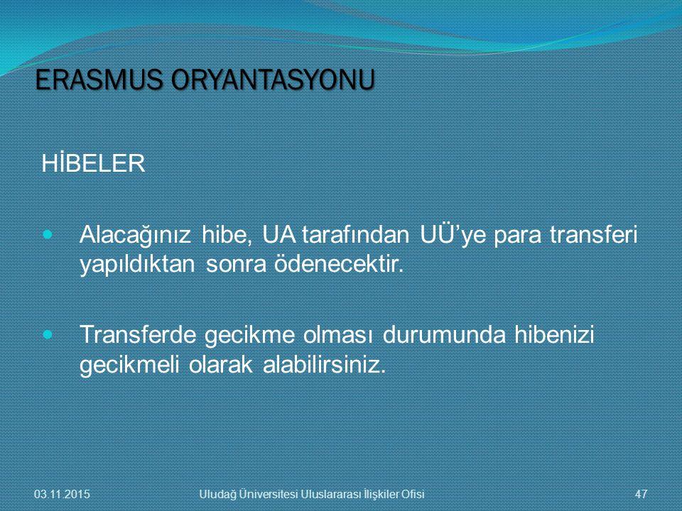 HİBELER Alacağınız hibe, UA tarafından UÜ'ye para transferi yapıldıktan sonra ödenecektir. Transferde gecikme olması durumunda hibenizi gecikmeli olar