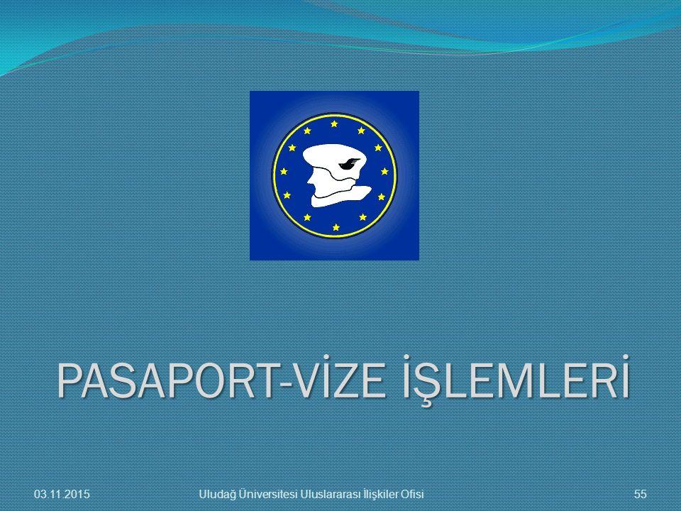 PASAPORT-VİZE İŞLEMLERİ 03.11.201555Uludağ Üniversitesi Uluslararası İlişkiler Ofisi