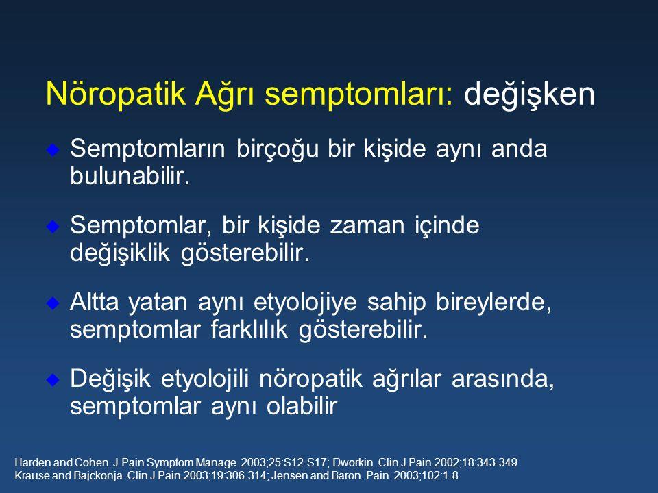 u Semptomların birçoğu bir kişide aynı anda bulunabilir. u Semptomlar, bir kişide zaman içinde değişiklik gösterebilir. u Altta yatan aynı etyolojiye