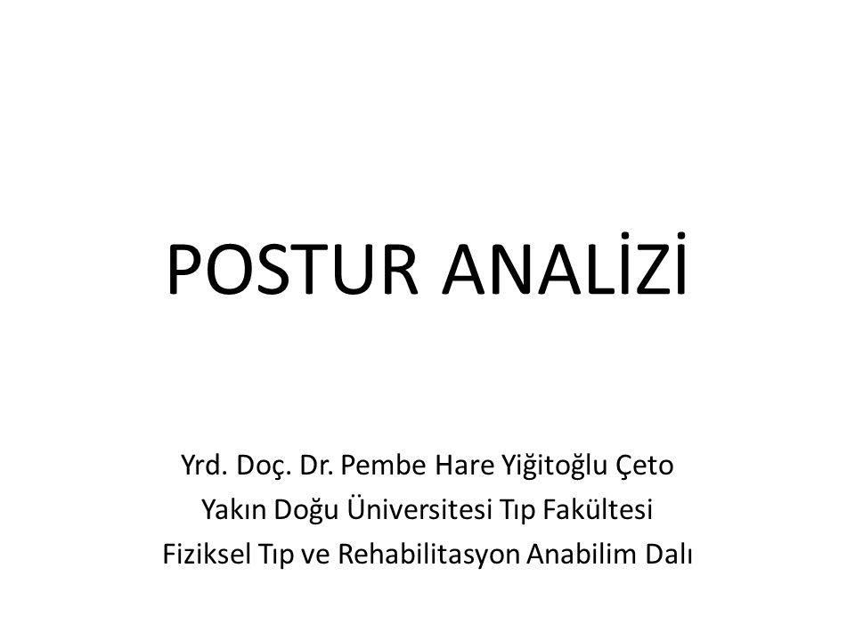 Posterior postür analizi Başın ne sağa ne sola rotasyonu vardır.