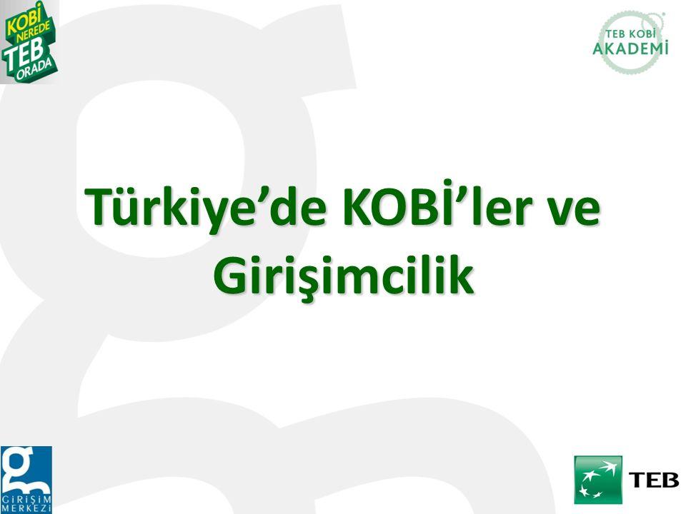 Türkiye'de KOBİ'ler ve Girişimcilik