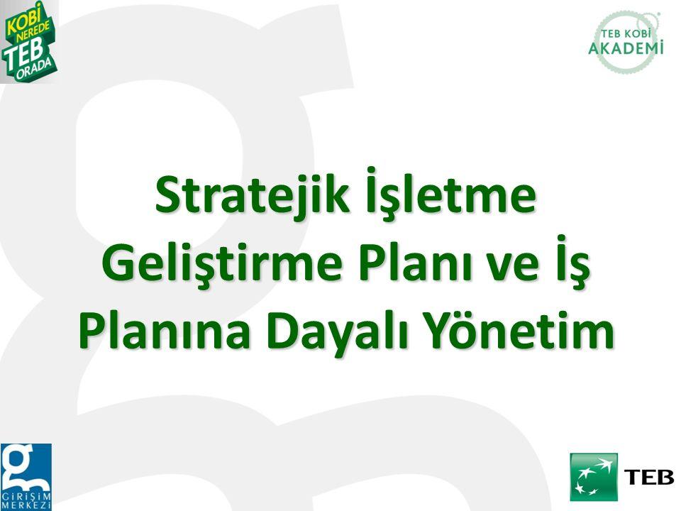 Stratejik İşletme Geliştirme Planı ve İş Planına Dayalı Yönetim