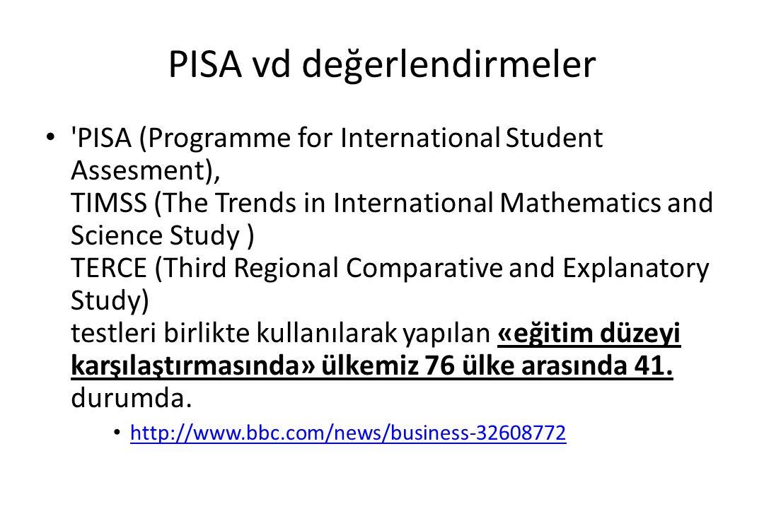 PISA'dan dersler PISA sonuçlarında, üst düzeyde performans gösteren ülkelerin, yüksek başarı (mükemmelliyet) ile eşitliği birleştirebilmeleri, «mükemmele ulaşmak için eşitlikten taviz vermek zorunda olunmadığını» göstermektedir.