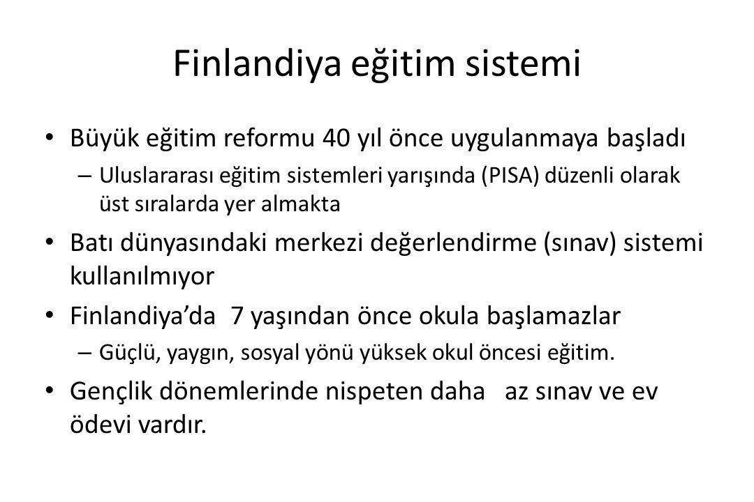Finlandiya eğitim sisteminin gerçekleri Eğitimin ilk 6 yılında bilgi ölçümü yapılmaz.