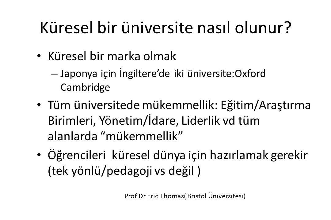 Küresel bir üniversite nasıl olunur.