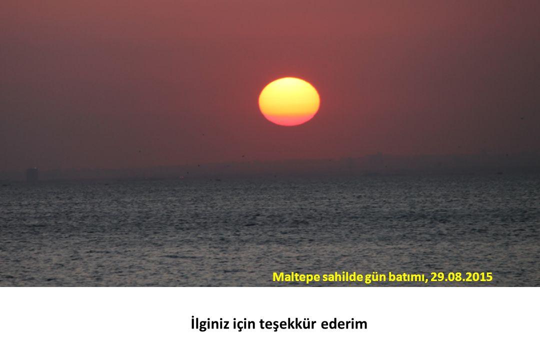 Maltepe sahilde gün batımı, 29.08.2015 İlginiz için teşekkür ederim