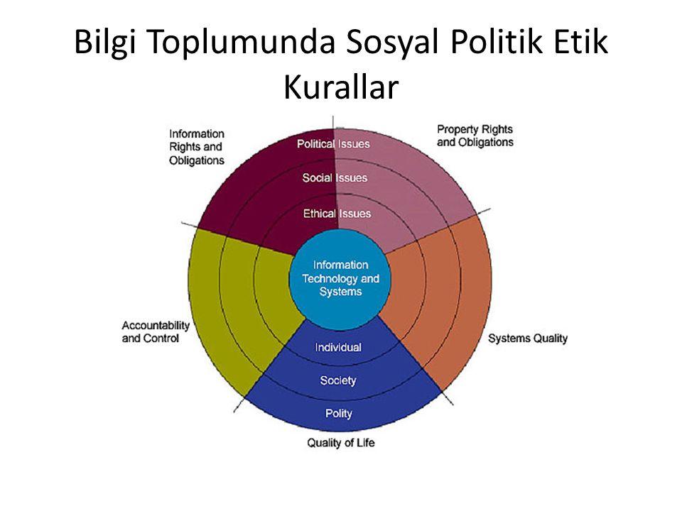 Bilgi Toplumunda Sosyal Politik Etik Kurallar