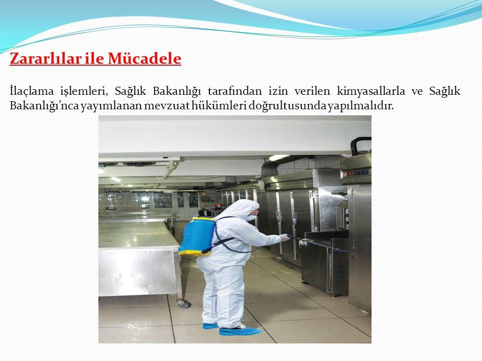 İlaçlama işlemleri, Sağlık Bakanlığı tarafından izin verilen kimyasallarla ve Sağlık Bakanlığı'nca yayımlanan mevzuat hükümleri doğrultusunda yapılmalıdır.