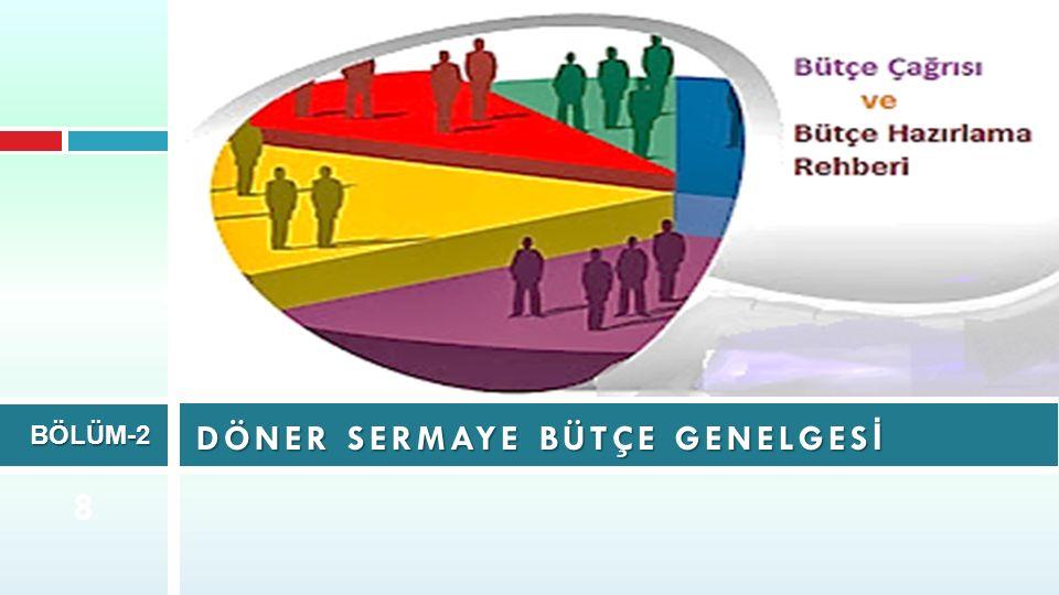 DÖNER SERMAYE BÜTÇE GENELGES İ BÖLÜM-2 8