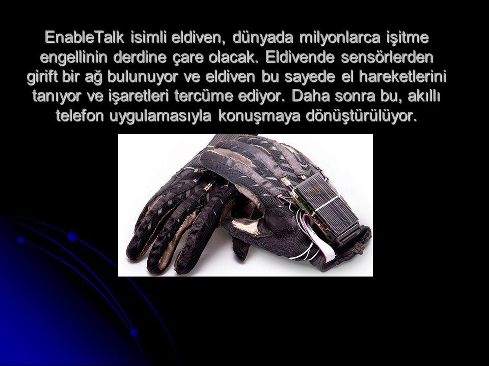 EnableTalk isimli eldiven, dünyada milyonlarca işitme engellinin derdine çare olacak.