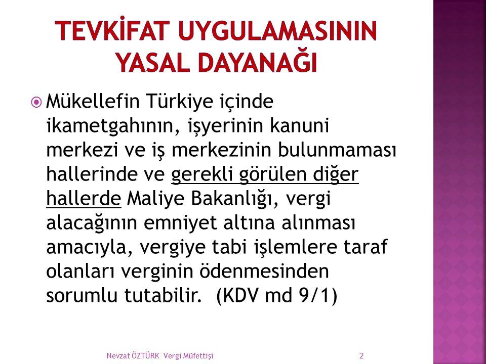  Mükellefin Türkiye içinde ikametgahının, işyerinin kanuni merkezi ve iş merkezinin bulunmaması hallerinde ve gerekli görülen diğer hallerde Maliye B