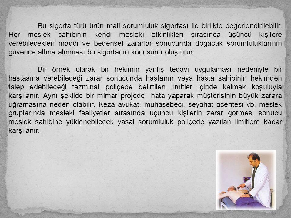 Mesleki Sorumluluk Sigortası Genel Şartları Sigortanın Coğrafi Sınırı Bu sigorta, sigortalının Türkiye Cumhuriyeti sınırları içinde ifa ettiği mesleki faaliyetler için geçerlidir; Ancak, taraflar sigortalının yurtdışında yürüteceği mesleki faaliyetlerin de sigorta kapsamına alınmasını kararlaştırabilir.