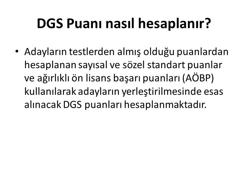 DGS Puanı nasıl hesaplanır.