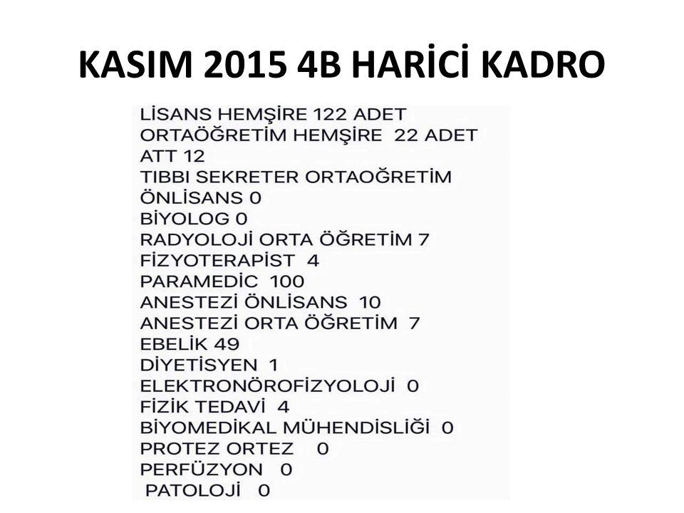 KASIM 2015 4B HARİCİ KADRO