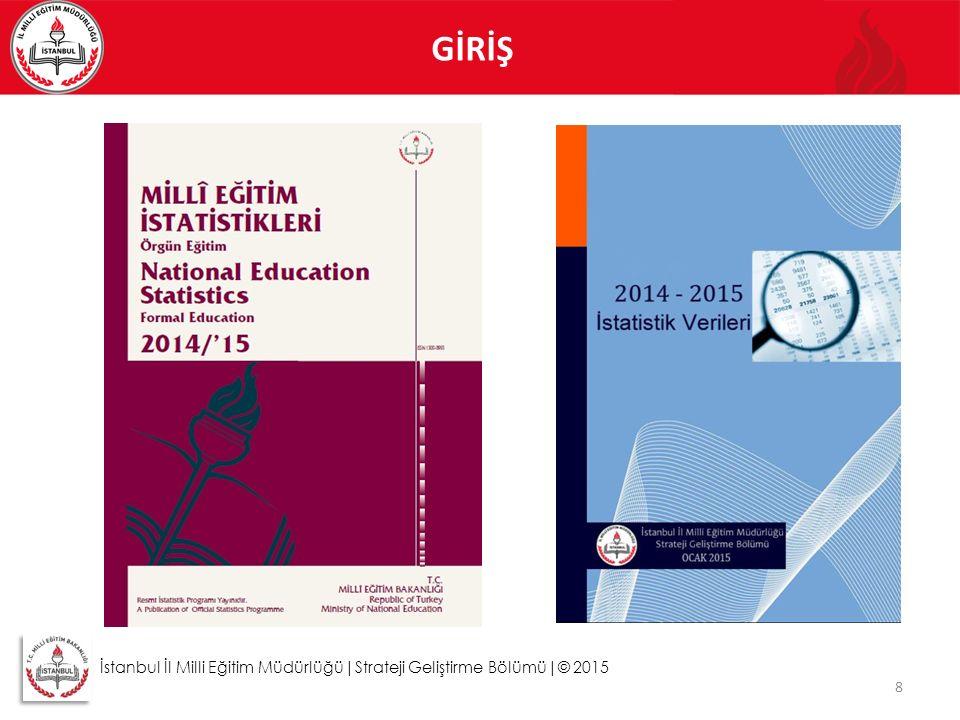 GİRİŞ 8 İstanbul İl Milli Eğitim Müdürlüğü|Strateji Geliştirme Bölümü|© 2015