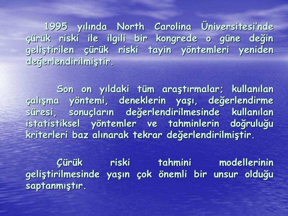 1995 yılında North Carolina Üniversitesi'nde çürük riski ile ilgili bir kongrede o güne değin geliştirilen çürük riski tayin yöntemleri yeniden değerl