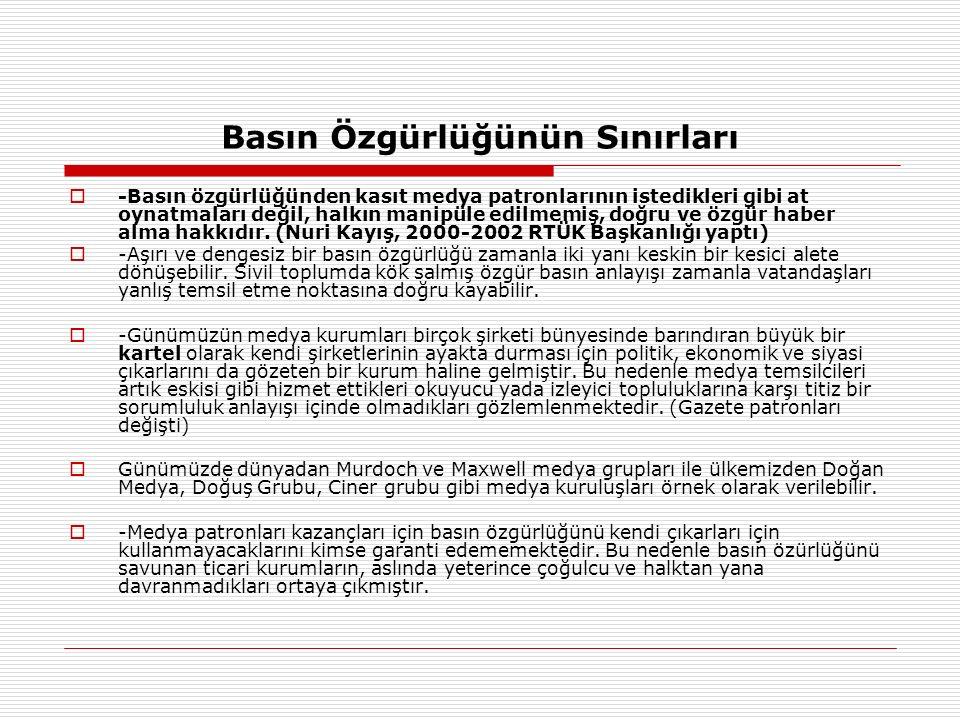 Türkiye ' de Medya Çalışanlarının Dağılımı  Türkiye ' de 60 İletişim Fakültesinden yılda ortalama 750 mezun veriliyor.