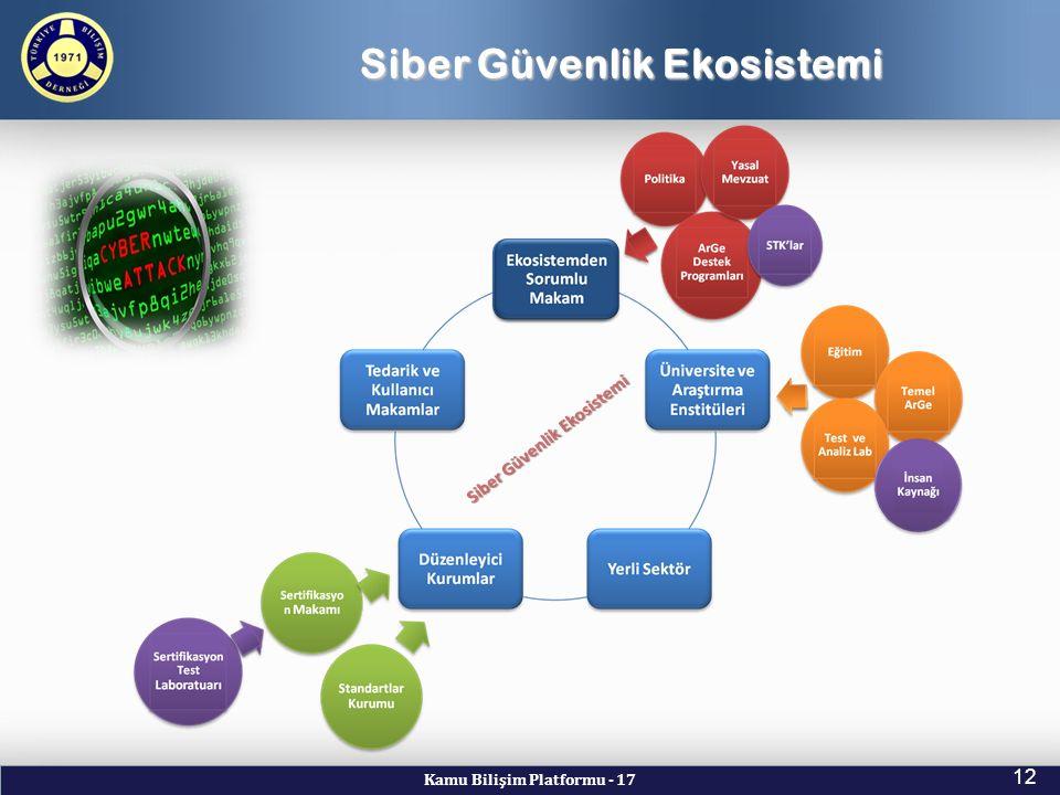 Kamu Bilişim Platformu - 17 12 Siber Güvenlik Ekosistemi