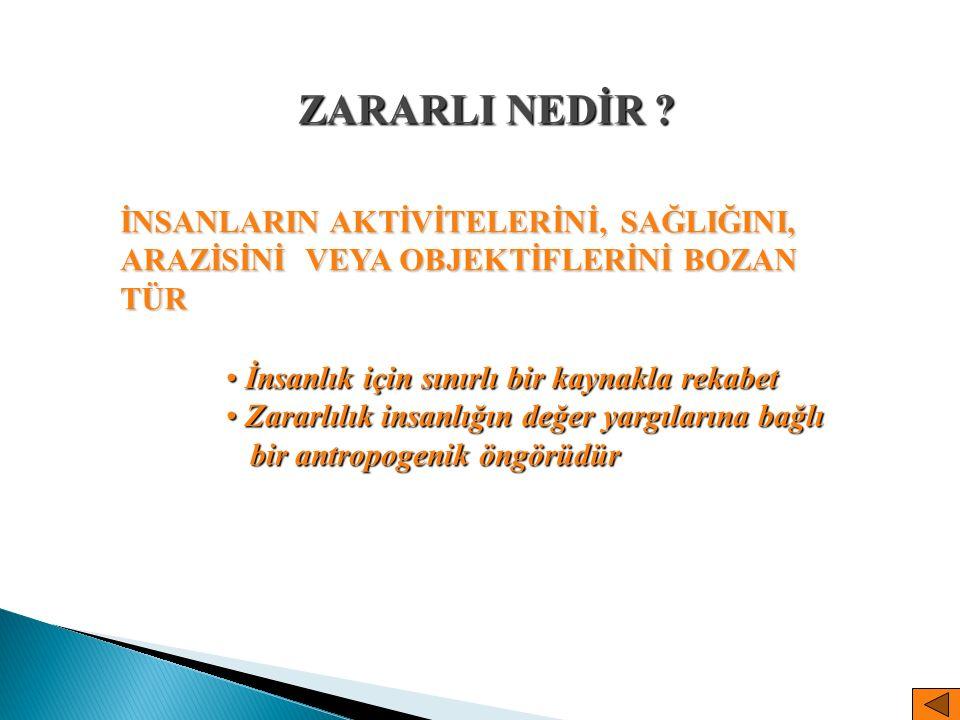  Değerlendirme kriterleri 1.Ulusal ekonomi düzeyinde faydalılığın tanımlanması 2.