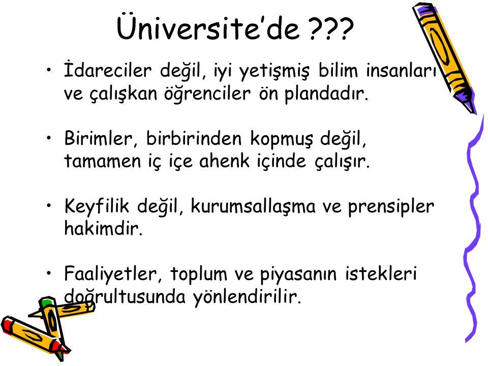 Üniversite'de ??.