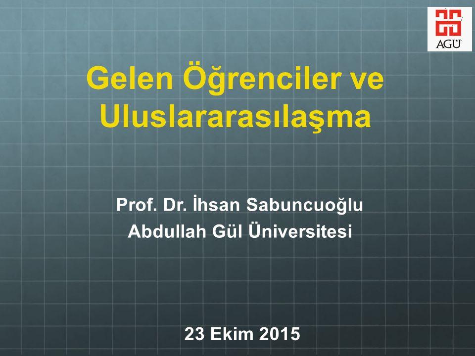 Abdullah Gül Üniversitesi İlk vakıf destekli devlet üniversitesi Temamen ingilizce eğitim Temamen ingilizce eğitim Yeni nesil üniversite Yeni nesil üniversite topluma katkı topluma katkı öğrenen odaklı AGÜ: ilk vakıf destekli devlet üniversitesi