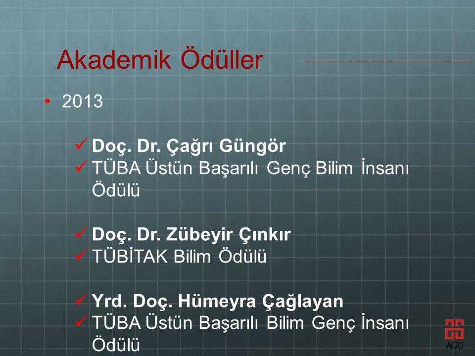2013 Doç. Dr. Çağrı Güngör TÜBA Üstün Başarılı Genç Bilim İnsanı Ödülü Doç.
