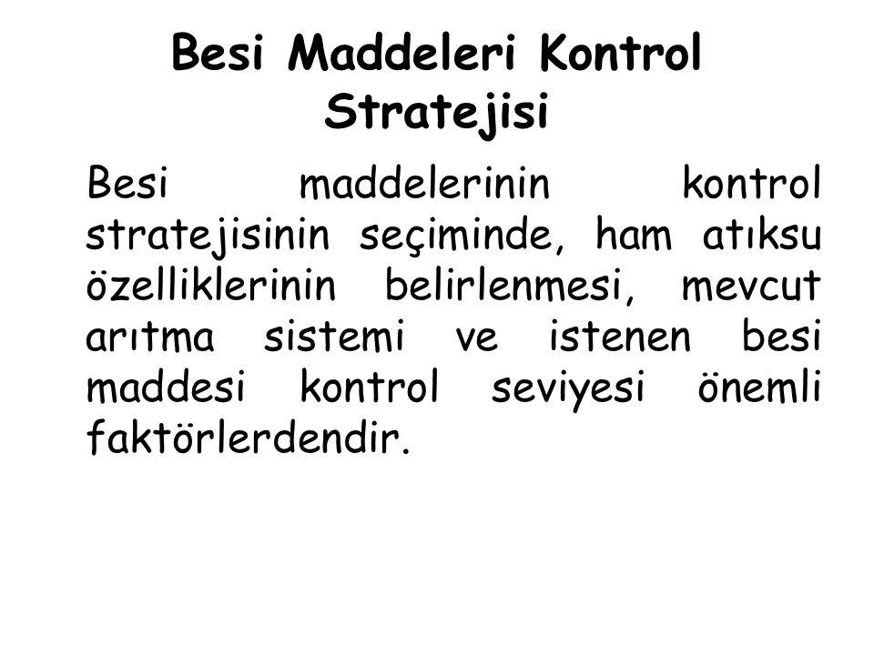 Besi Maddeleri Kontrol Stratejisi Besi maddelerinin kontrol stratejisinin seçiminde, ham atıksu özelliklerinin belirlenmesi, mevcut arıtma sistemi ve