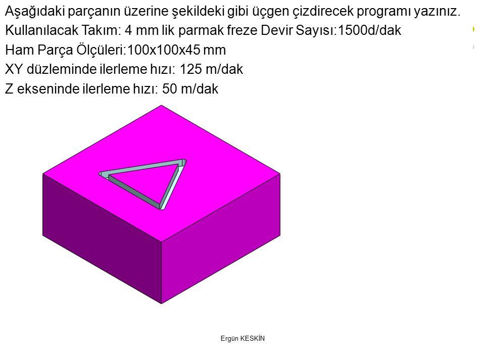 Ergün KESKİN Aşağıdaki parçanın üzerine şekildeki gibi üçgen çizdirecek programı yazınız.