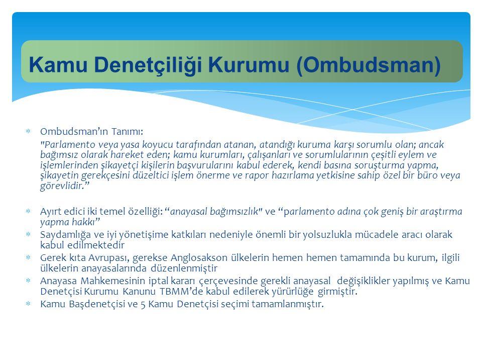  Ombudsman'ın Tanımı:
