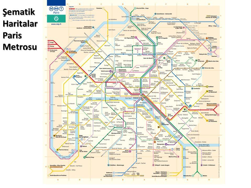 Şematik Haritalar Paris Metrosu