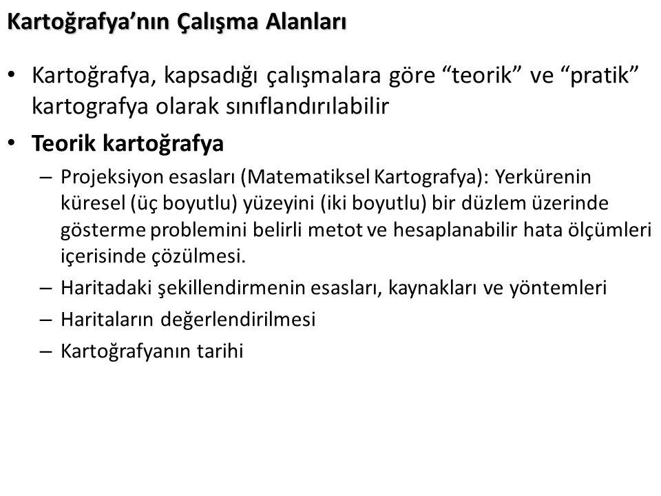 Kaynaklar Wikipedia.org Yrd.Doç. Dr. Türkay Gökgöz YTÜ Kartoğrafya Ders Notları Yrd.