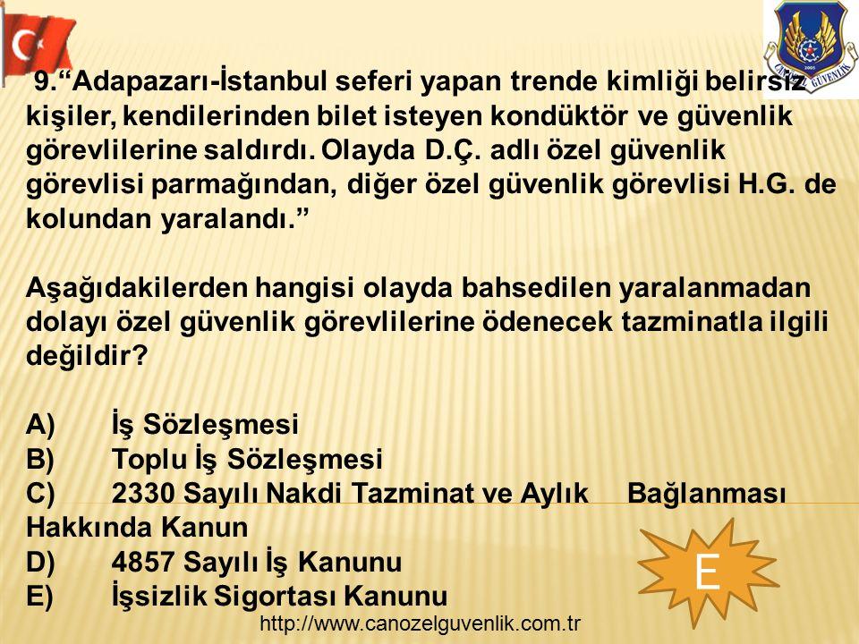 """http://www.canozelguvenlik.com.tr E 9.""""Adapazarı-İstanbul seferi yapan trende kimliği belirsiz kişiler, kendilerinden bilet isteyen kondüktör ve güven"""