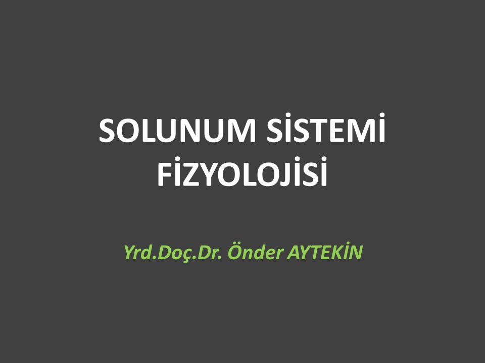 SOLUNUM SİSTEMİ FİZYOLOJİSİ Yrd.Doç.Dr. Önder AYTEKİN