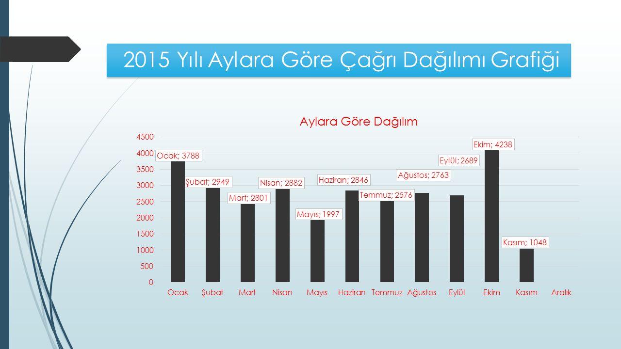 2015 Yılı Aylara Göre Çağrı Dağılımı Grafiği