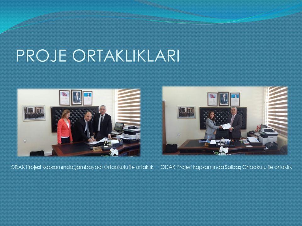 PROJE ORTAKLIKLARI ODAK Projesi kapsamında Salbaş Ortaokulu ile ortaklık ODA K Projesi kapsamında Şambayadı Ortaokulu ile ortaklık
