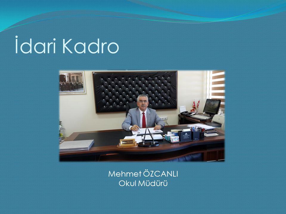 İdari Kadro Mehmet ÖZCANLI Okul Müdürü