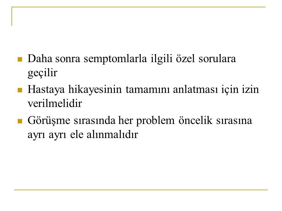 6-ağrı: Ağrının değerlendirilmesinde farklı skalalar kullanılır