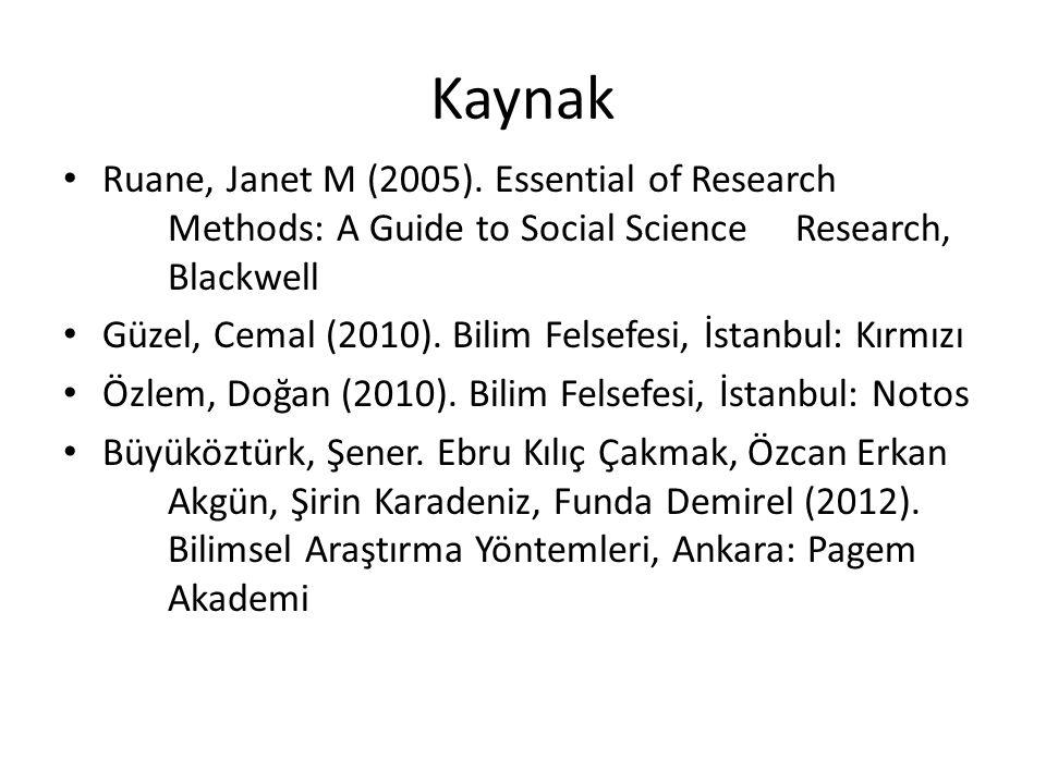 Kaynak Ruane, Janet M (2005).