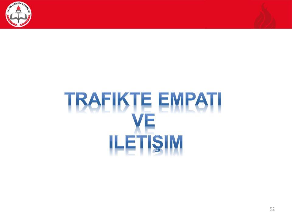 Empati Trafikte, siz beklerken, birisi önünüze geçse ne hissedersiniz? TARTIŞINIZ! 53