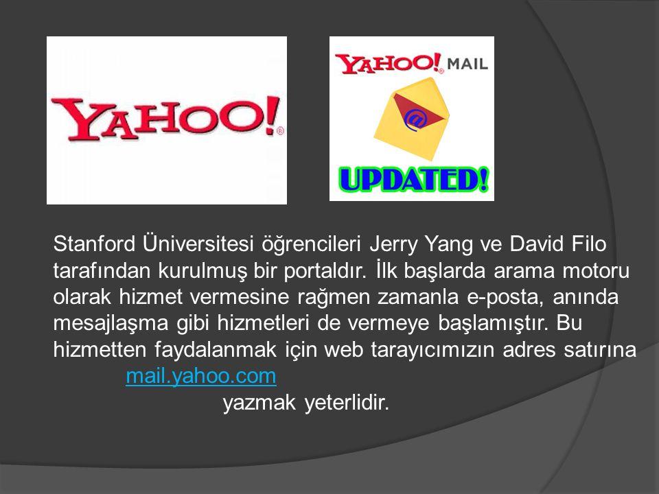 Stanford Üniversitesi öğrencileri Jerry Yang ve David Filo tarafından kurulmuş bir portaldır.