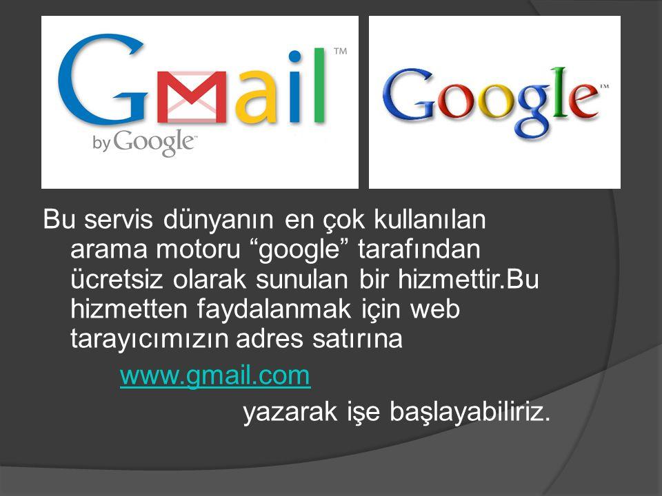 """Bu servis dünyanın en çok kullanılan arama motoru """"google"""" tarafından ücretsiz olarak sunulan bir hizmettir.Bu hizmetten faydalanmak için web tarayıcı"""