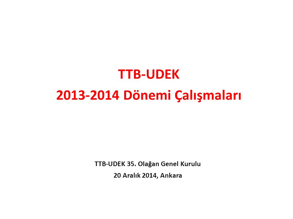 Dr. Füsun Sayek VII. Eğitim Hastaneleri Kurultayı 12.12.2014