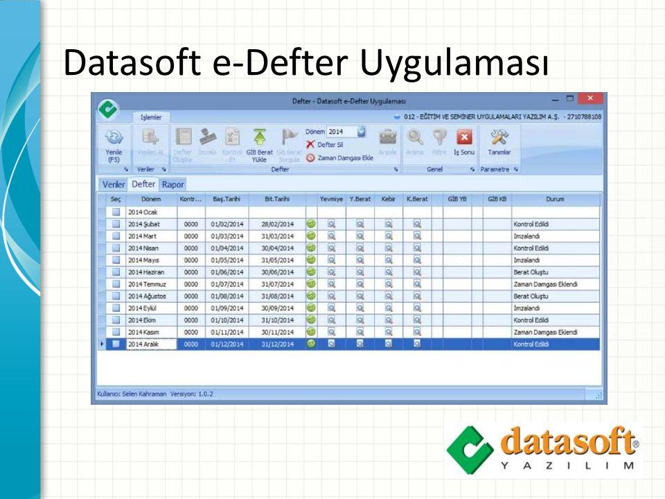 Datasoft e-Defter Uygulaması