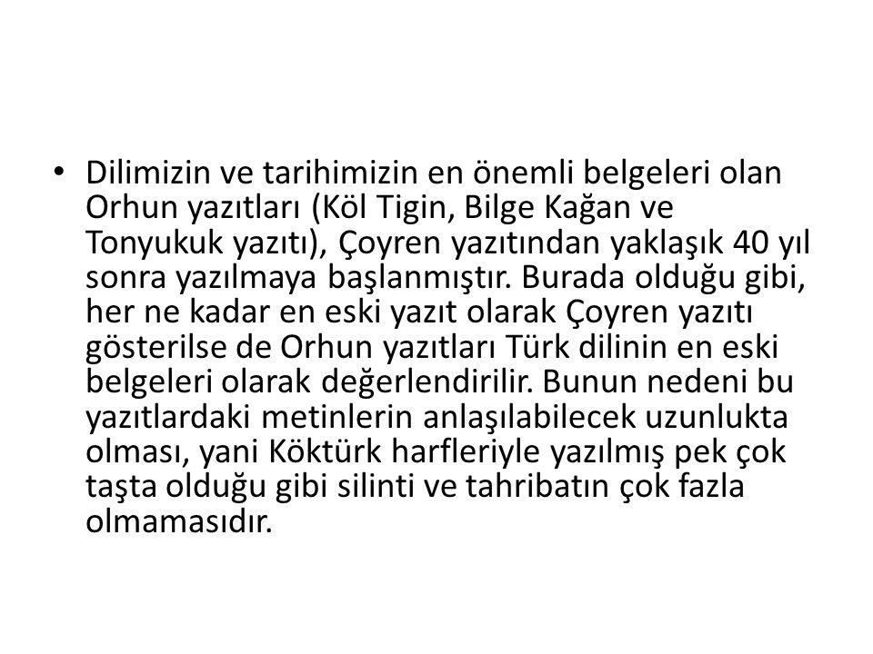 Eski Türkçe Yani, Orhun Türkçesi ilk dönemin başlangıç yazı dili olmuştur.