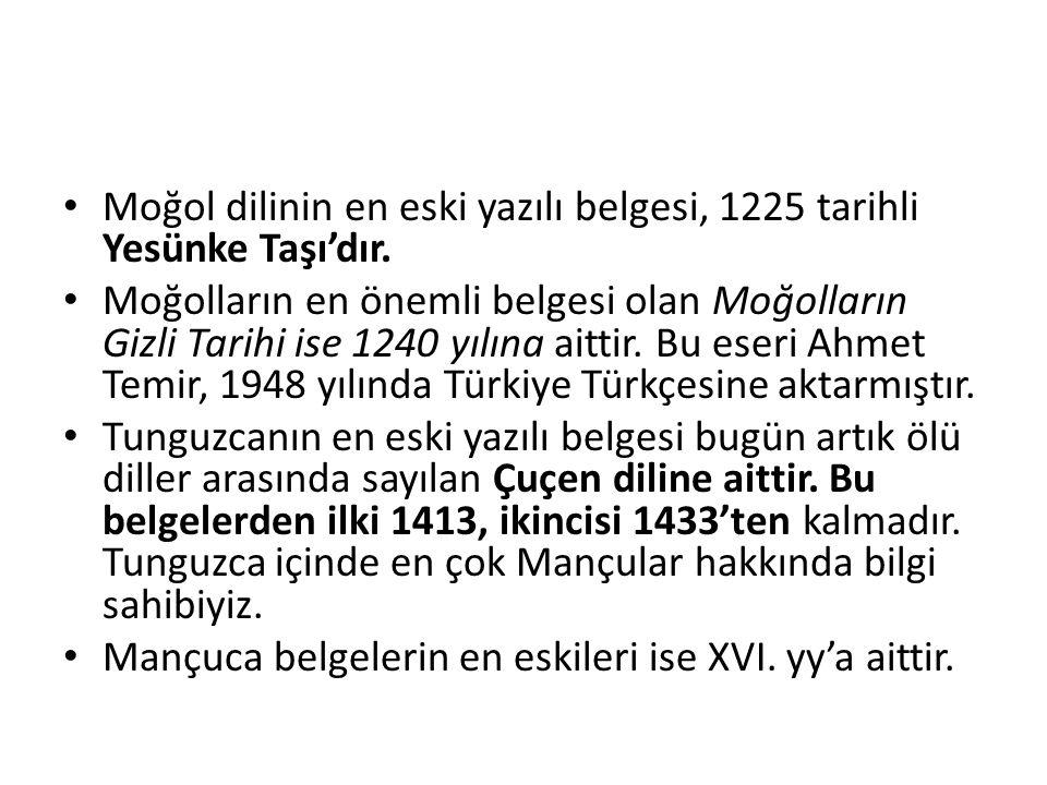Orta Türkçe döneminin başlangıcından XV.