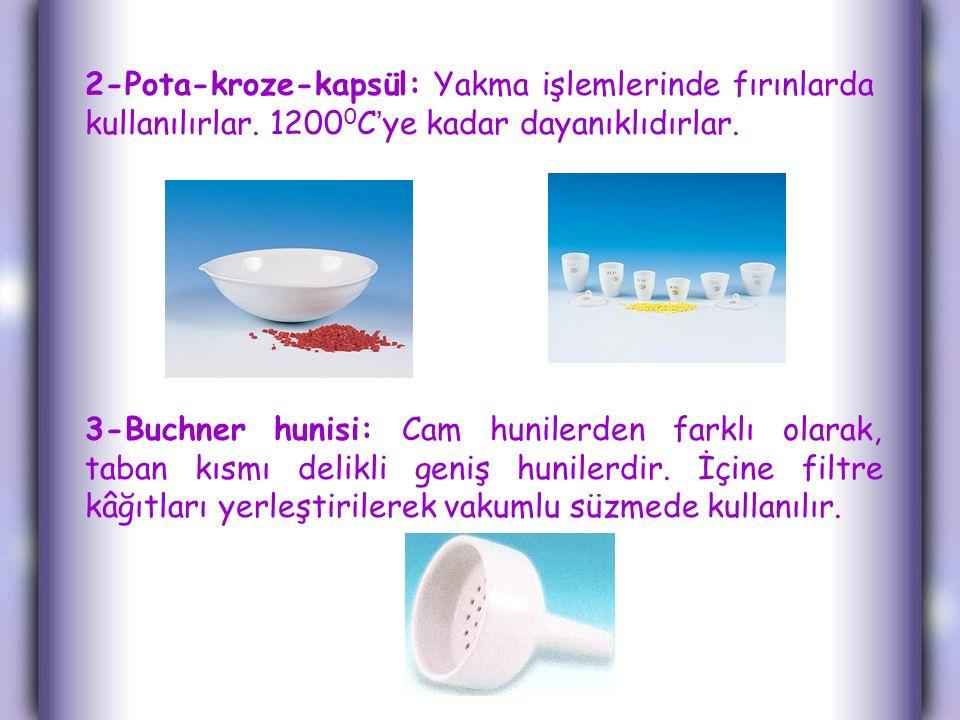 2-Pota-kroze-kapsül: Yakma işlemlerinde fırınlarda kullanılırlar.